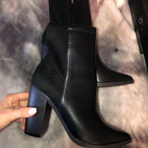 Black heeled booties!